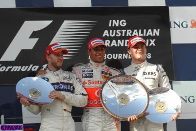 Résulats du 1° Grand Prix d'Australie