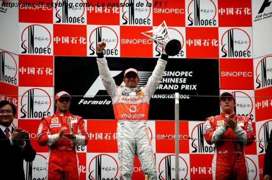 Résulats du 17° Grand Prix de Chine
