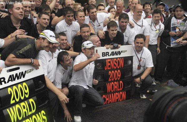 Jenson Buton & Brawn champion du monde 2009