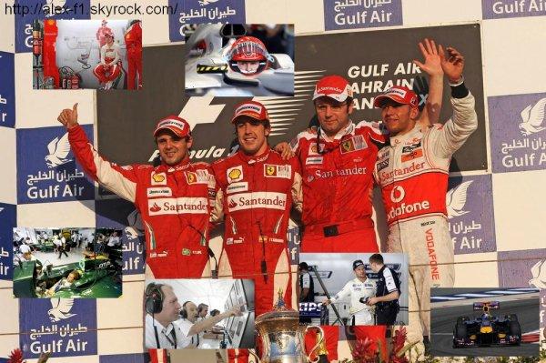 Résultats du 1° Grand Prix : Bahreïn