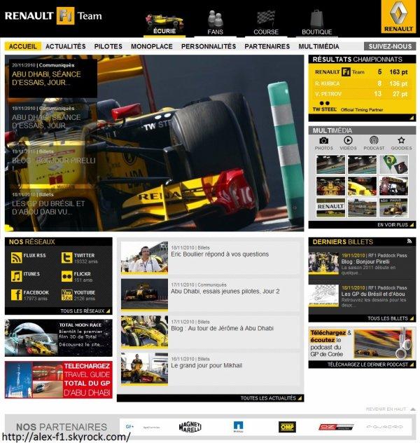 Renault F1 Team s'est finit.