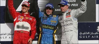 Alonso mate Schumacher à Bahreïn