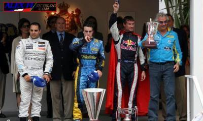 Victoire d'Alonso à Monaco