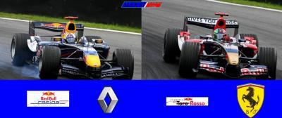 Red-bull Renault & Toro Rosso Ferrari