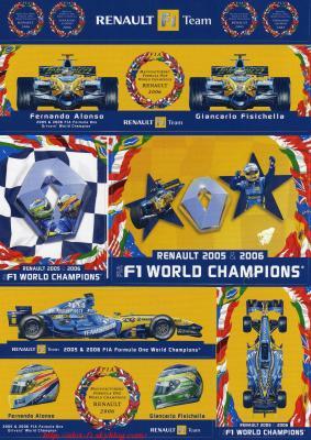 Stiker Renault F1