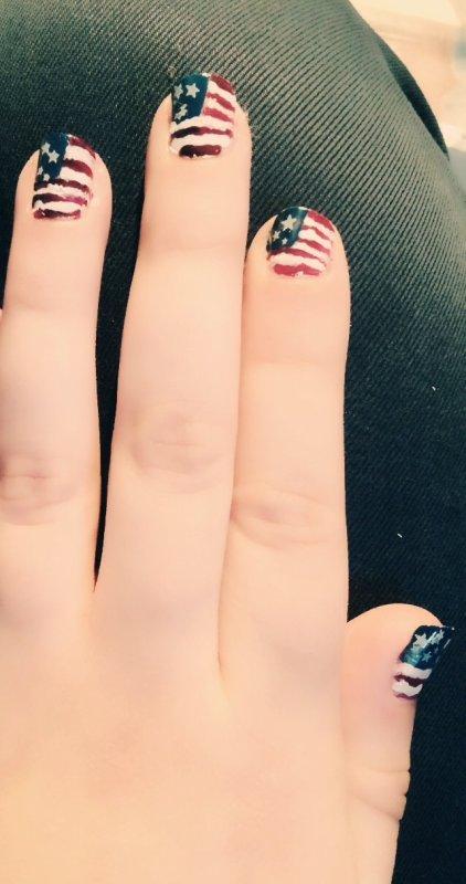 Drapeau américain  fait à la main