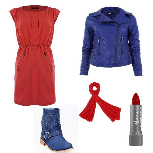 En rouge et bleu !