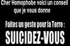 a bas les homophobes je vous emmerde