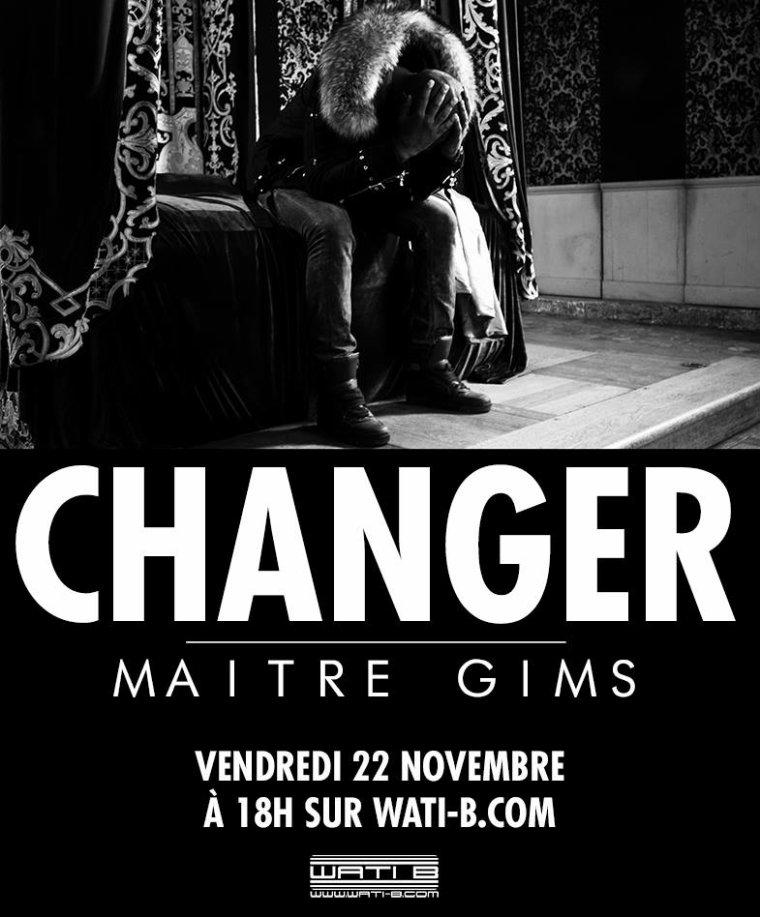 Maitre Gims revient vendredi 22/11 avec le clip #changer extrait de Subliminal