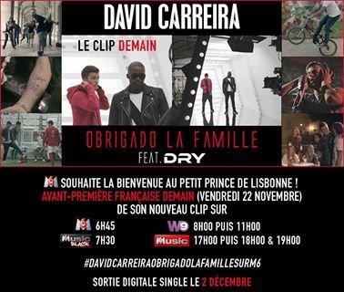 DEMAIN LE CLIP OBRIGADO DE Dry et David Carreira !