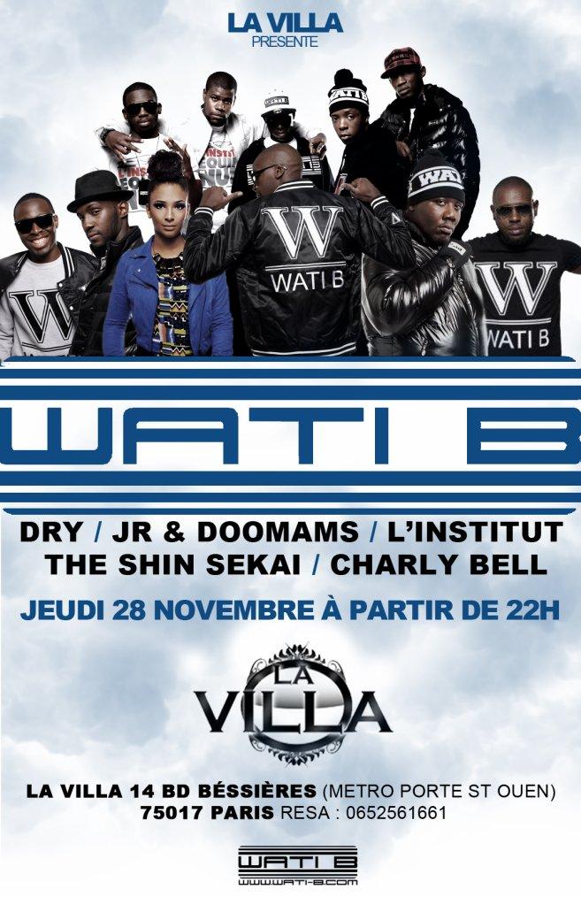RDV avec Dry, Jr & Doomams, Charly Bell, L'Institut et The Shin Sekai le 28 novembre à LA VILLA