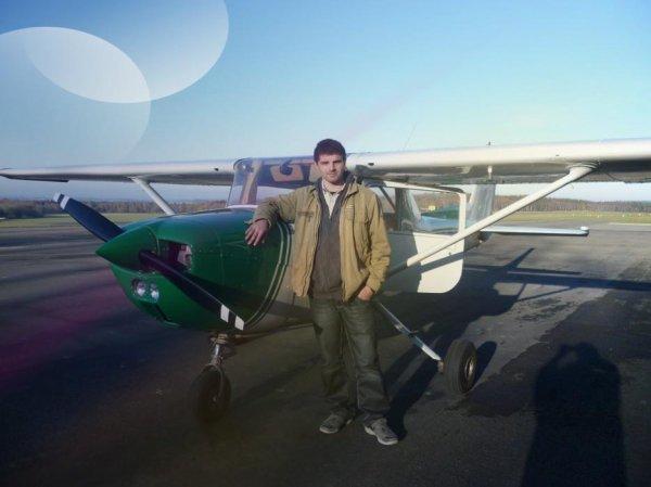 Moi dans l'avion