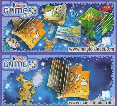 "Série : 04   MINI LIVRES (SERIE ""KINDER GAME"")"