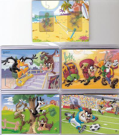 Série : 05	KINDER  CREATE/ PUZZLE LOONEY TUNES ACTIVE :  [ BPZ NEUTRE]