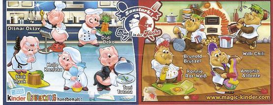 Série : 09LA CUISINE DES COCHONS [ 5 cochons et 4 sangliers]