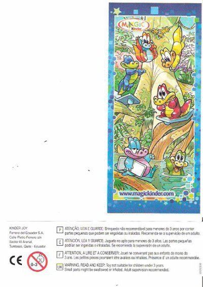 Série : 06KINDER NATURE  CROCODILE (Kinder joy Inde)