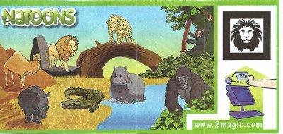 Série : 10NATOONS -  ANIMAUX D'AFRIQUE (EU)(Canada)
