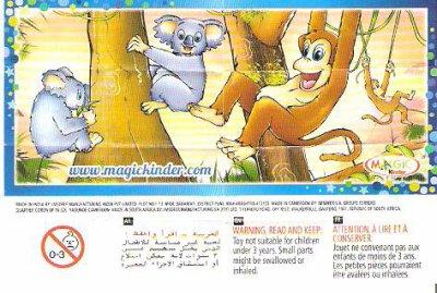 Série : 02ECHELLE  Singe et Koala (joy Inde)