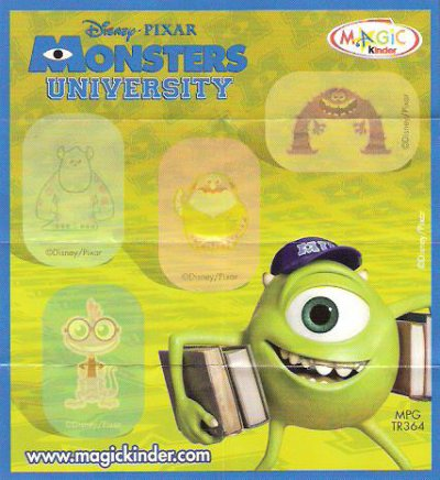 Série : 07	MONSTERS UNIVERSITY  [Joy France]