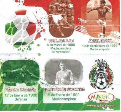Série : 01Football Coupe du Monde 2014 - Football étoiles Mexique (Fan-G immicks)