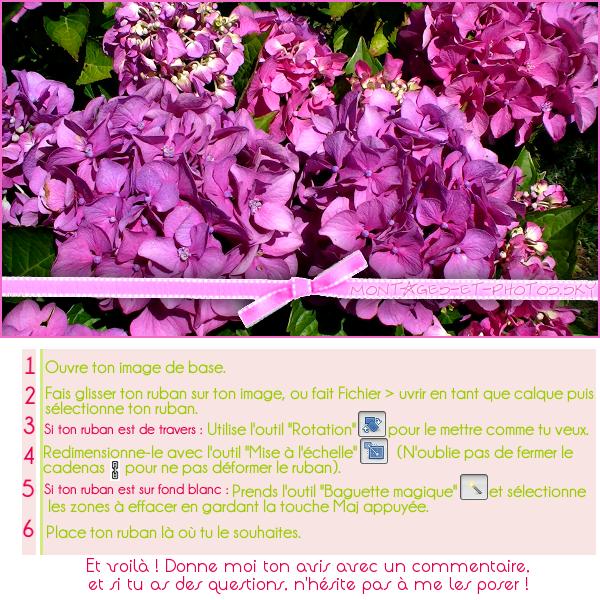 Tuto 9 : Mettre un ruban sur une image.