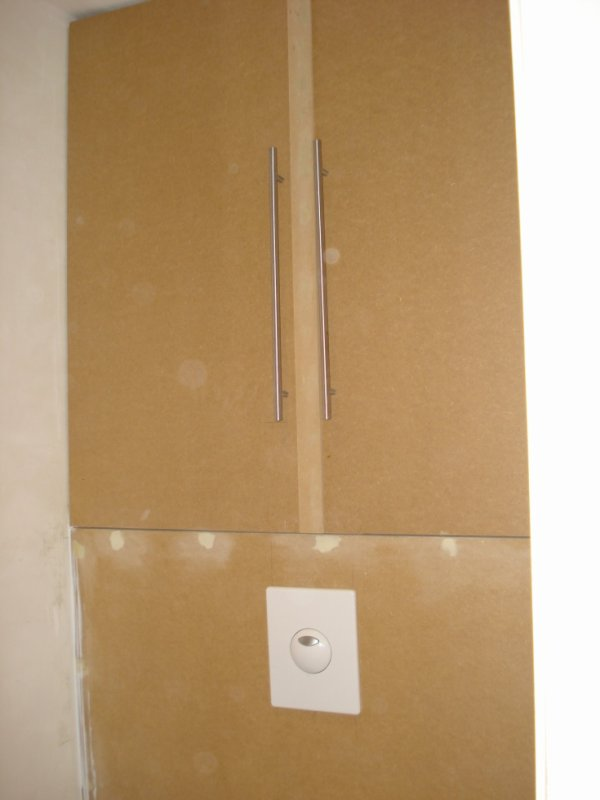 Placard au dessus d 39 un wc suspendu 1 menuiserie am nagement int rieur - Amenagement wc suspendu ...