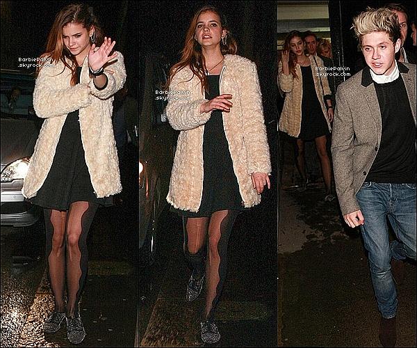 31/12/13 : Barbara P. quittant le concert de Gary Barlow en compagnie de Niall Horan, à Londres. Sa tenue est parfaite tout comme elle. Les rumeurs entre Niall et Barbara continuent de s'emplifier. Votre avis ?!