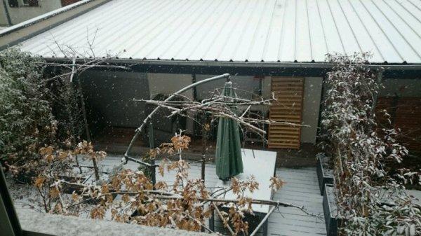 Neige à Strasbourg