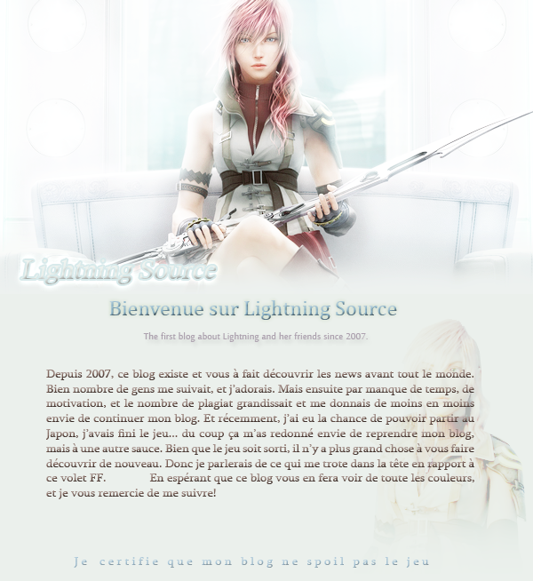 Blog version 3.0 → LIGHTNING Welcome~ Photoshoot by me