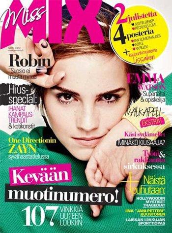 """Emma en couverture de du magazine """"Miss Mix"""" 2012"""