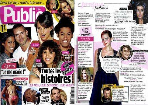 """Emma Watson et Robert Pattinson ensemble dans """"Bling Ring"""" ? +  Emma dans les magzine """"Public"""" et """"Closer"""""""