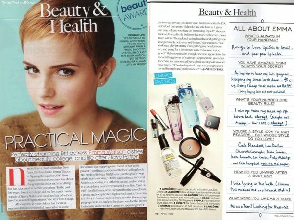 Nouvelles photos d'Emma Watson(Scans, Lancôme, Harry Potter, photos de fans)