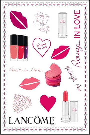 "Stickers Lancôme ""Rouge In Love""."