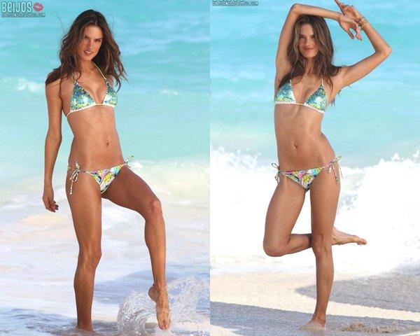 Alessandra Ambrosio vidéo sexy pour Noël et photoshoot pour Victoria Secret