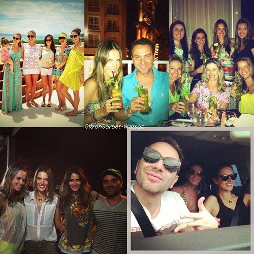 Le 28.12.12 : Alessandra Ambrosio est sortie avec des amis dans un café musical à Florianaopolis au Brézil.