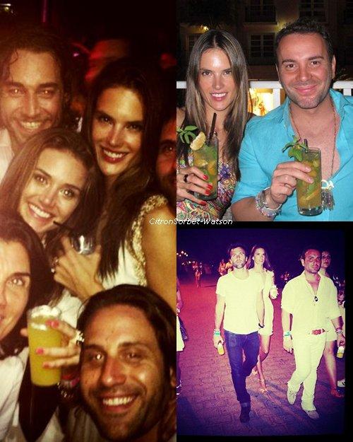 Le 31.12.12 : Alessandra était présente à une fête avec son mari et des amis au Brézil + Une nouvelle photo de Doutzen .