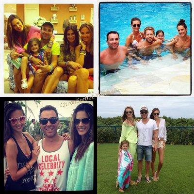 03.01.13 : Alessandra à la plage au Brézil avec des amis et son mari Jamie Mazur + Photos Twitter d'Alessandra.