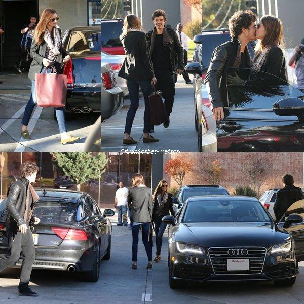 04.01.13 : Orlando Bloom est allé chercher sa femme Miranda Kerr à la sortie du SPA.