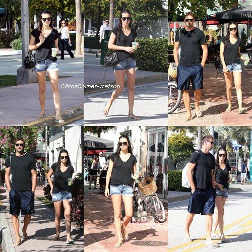 Le 05.01.13 : Adriana Lima et son mari Marko Jaric à Miami puis Adriana nettoyant sa voiture.