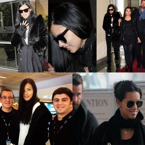 Le 08.01.13 : Adriana Lima a été vue arrivant à l'aéroport d'Antalaya en Turquie pour défiler au Dosso Dossi fashion Show + Premières photos d'Adriana Lima pour Metrocity