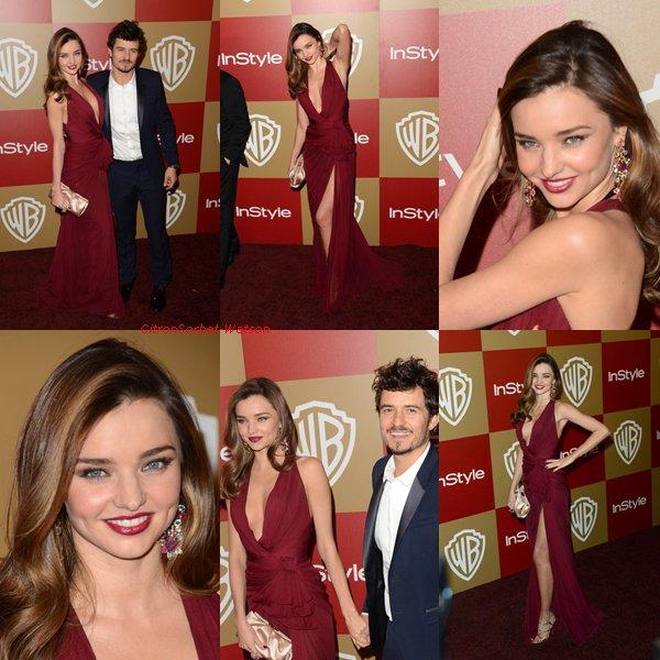 Le 13.01.13 : Miranda et Orlando étaient tous deux sur le tapis rouge pour l'after party des Warner Bros et InStyle Golden Globe Awards à l'hôtel Courtyard Oasis, à Beverly Hills en Californie + Nouvelles photos de Miranda pour Mango...