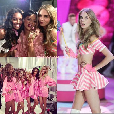 Cara Delevingne lors du Victoria Secret Fashion Show 2012 et à l'after Party...