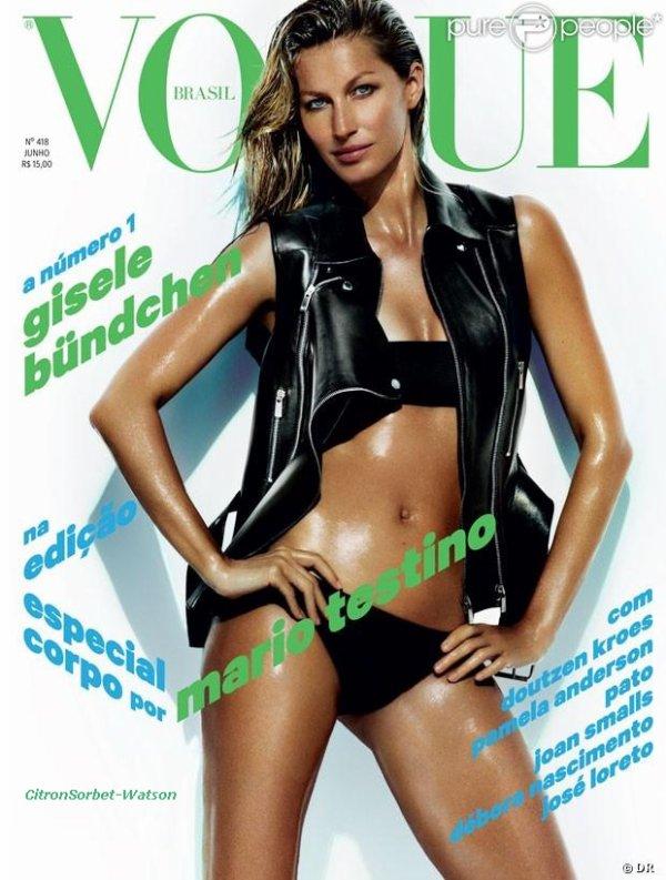 Gisèle Bundchen en couverture du Vogue Brésil de Juin...