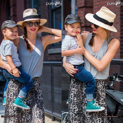 Le 18.06.13 : Miranda a été vue avec son fils Flynn dans les Rues de New-York...
