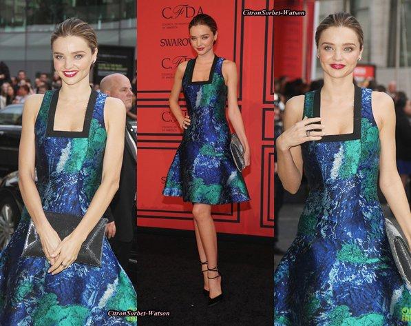 Le 03.06.13 : Miranda et Adriana étaient réunies au CFDA Fashion Award 2013 sur le Red Carpet...