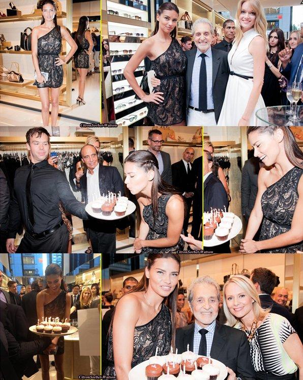 Le 12.06.13 : Adriana a fêté son anniversaire lors de l'ouverture d'un magasin Vince Camuto...