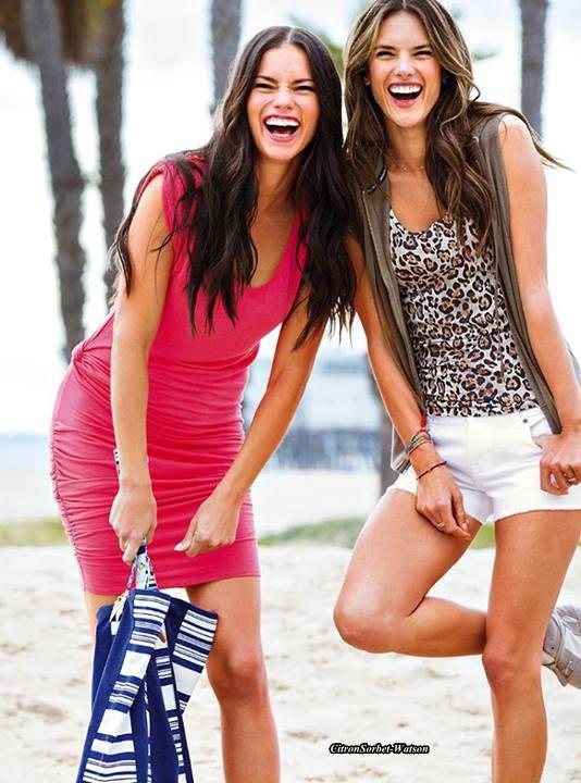 Nouvelles photos d'Alessandra et Adriana pour la marque Victoria Secret...
