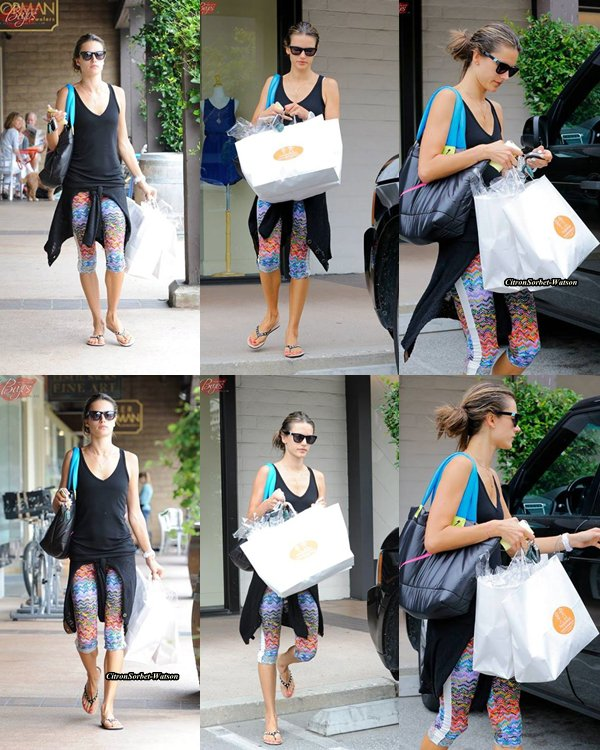 Le 25.06.13 : Alessandra et sa fille Anja sont allées manger un Yahourt glacé à la Framboise à Santa-Monica...