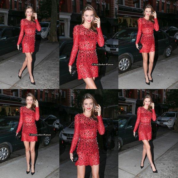 Le 21.06.13 : Miranda était à une soirée dans New-York...
