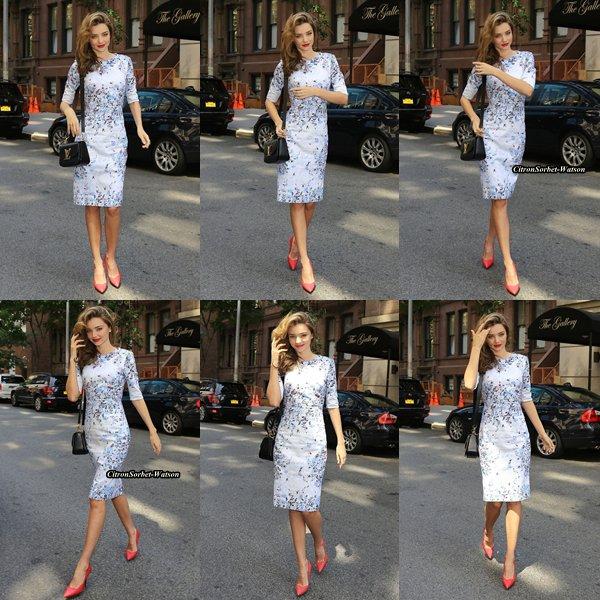 Le 30.06.13 : Miranda était à New-York pour un rendez-vous d'affaires...